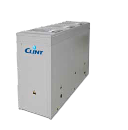 Aircooled liquid chillers and heat pumps with radial fans.