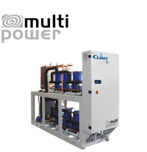 Water cooled liquid chillers and heat pumps for remote condensing.